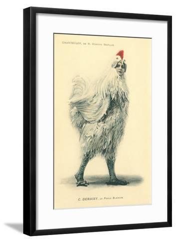 Chanticleer, Man in Chicken Suit--Framed Art Print