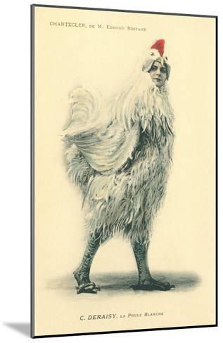 Chanticleer, Man in Chicken Suit--Mounted Art Print