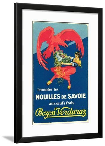 Dutch Lady Fighting with Eagle over Noodles--Framed Art Print