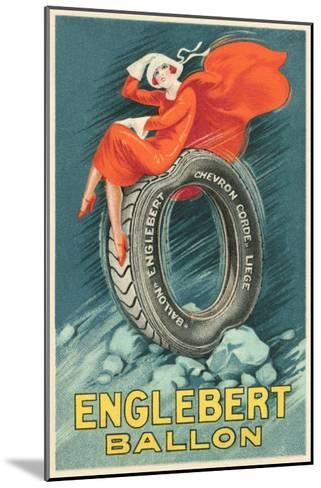 Flapper on Car Tire--Mounted Art Print