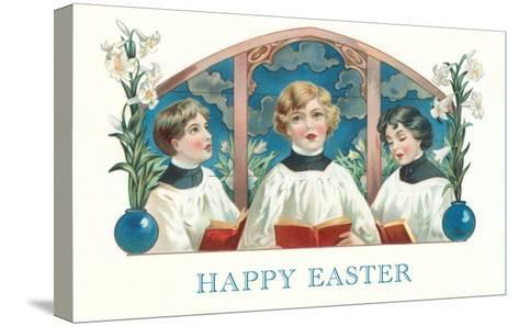Happy Easter, Three Altar Boys--Stretched Canvas Print