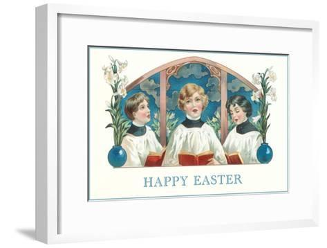 Happy Easter, Three Altar Boys--Framed Art Print