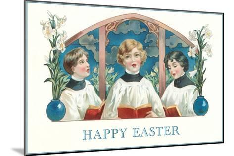 Happy Easter, Three Altar Boys--Mounted Art Print