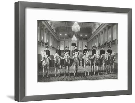 Lippizanner in Spanish Riding School--Framed Art Print