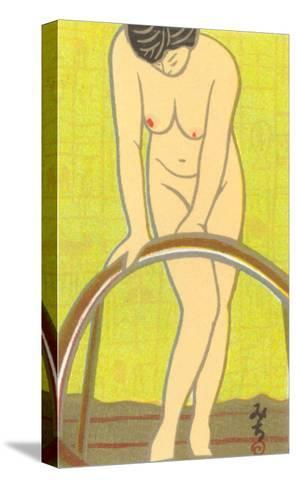 Nude Japanese Woman, Drawing--Stretched Canvas Print