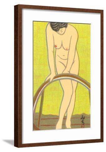 Nude Japanese Woman, Drawing--Framed Art Print