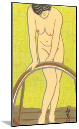 Nude Japanese Woman, Drawing--Mounted Art Print