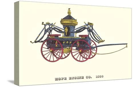 Hope Engine Vintage Fire Wagon--Stretched Canvas Print