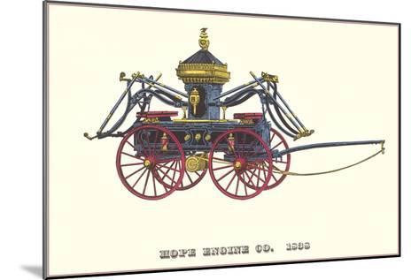 Hope Engine Vintage Fire Wagon--Mounted Art Print