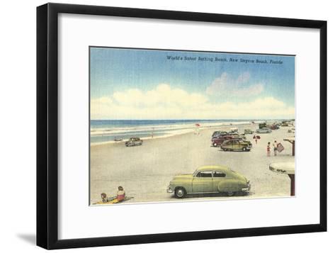 New Smyrna Beach--Framed Art Print