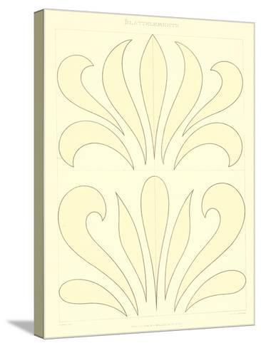 Stylized Russian Fleur de Lis--Stretched Canvas Print