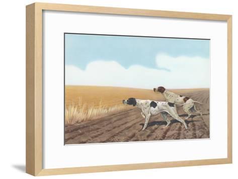 Pointers in Field--Framed Art Print