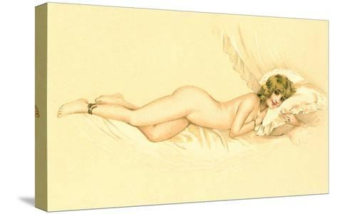 Reclining Nude with Snake Anklet--Stretched Canvas Print