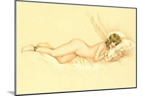 Reclining Nude with Snake Anklet--Mounted Art Print