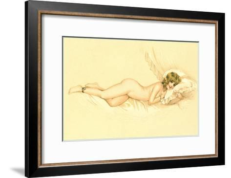 Reclining Nude with Snake Anklet--Framed Art Print