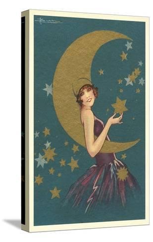 Vamp with the Moon--Stretched Canvas Print