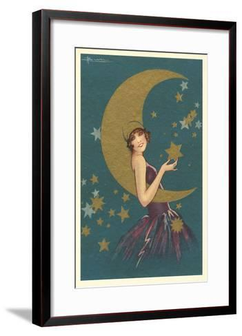 Vamp with the Moon--Framed Art Print