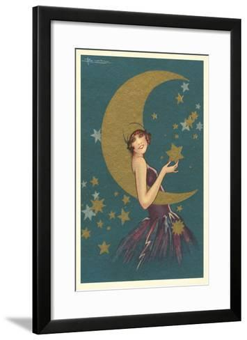 Vamp with the Moon--Framed Art Print