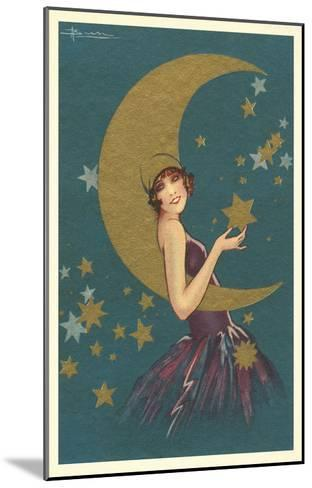 Vamp with the Moon--Mounted Art Print