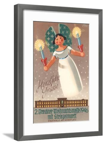 Christmas Eve Mass in Dresden, Germany--Framed Art Print