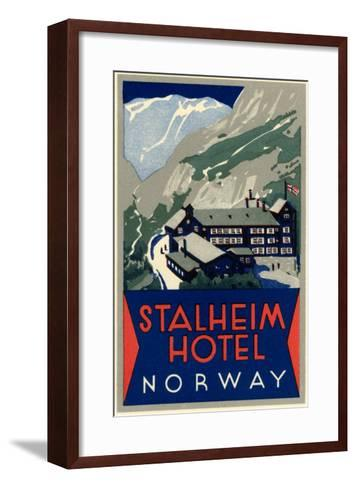 Stalheim Hotel, Norway--Framed Art Print
