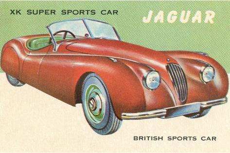Super Sports Car--Stretched Canvas Print