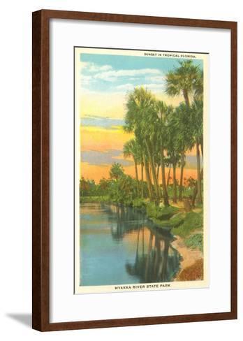 Sunset in Tropical Florida, Myakka River State Park--Framed Art Print