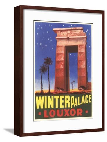 Winter Palace, Luxor, Egypt--Framed Art Print