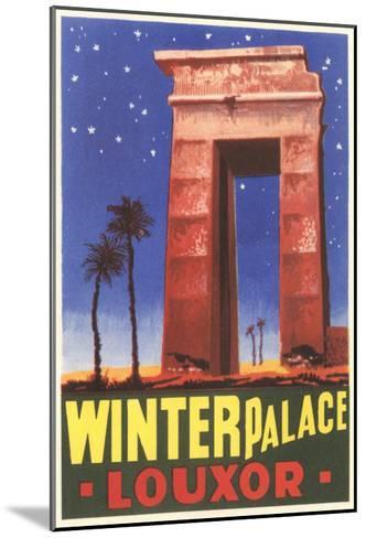 Winter Palace, Luxor, Egypt--Mounted Art Print