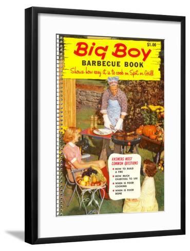 Big Boy Barbecue Book, Book Cover--Framed Art Print