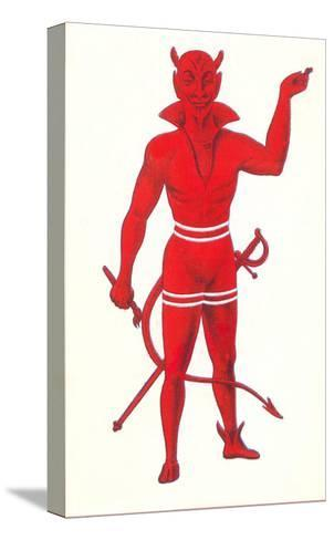 Devil with Sword and Paintbrush--Stretched Canvas Print