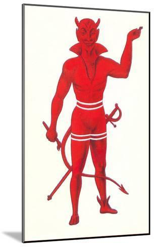 Devil with Sword and Paintbrush--Mounted Art Print
