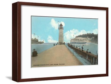Steamer, Chicago, Illinois--Framed Art Print