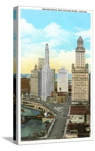 Wacker Drive, Chicago, Illinois--Stretched Canvas Print