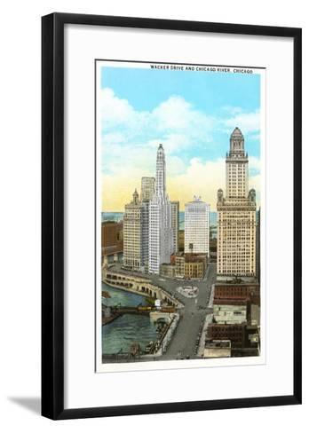 Wacker Drive, Chicago, Illinois--Framed Art Print
