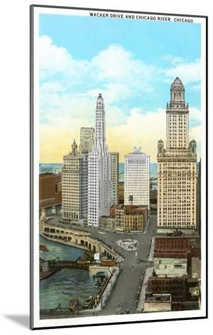 Wacker Drive, Chicago, Illinois--Mounted Art Print