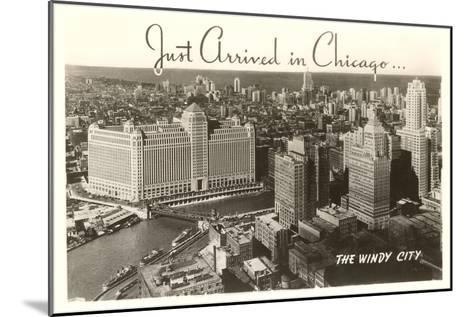 Just Arrived in Chicago Downtown View--Mounted Art Print