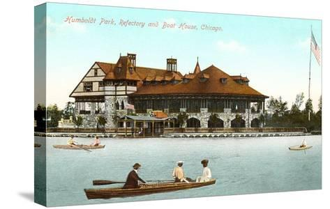Boat House, Refectory, Humboldt Park, Chicago, Illinois--Stretched Canvas Print