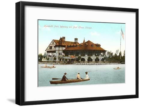 Boat House, Refectory, Humboldt Park, Chicago, Illinois--Framed Art Print