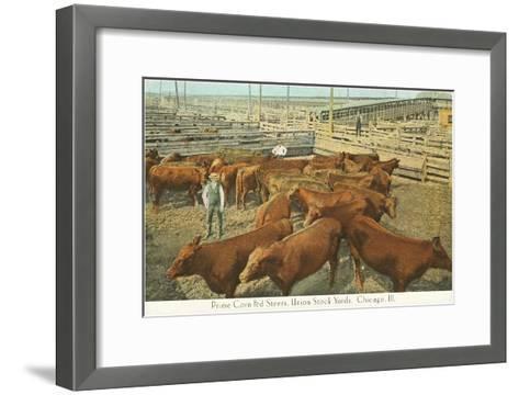 Stockyards, Chicago, Illinois--Framed Art Print