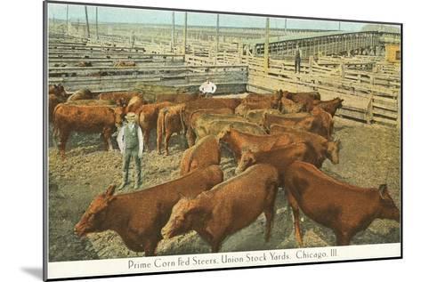 Stockyards, Chicago, Illinois--Mounted Art Print