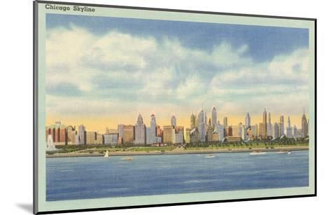 Skyline, Chicago, Illinois--Mounted Art Print