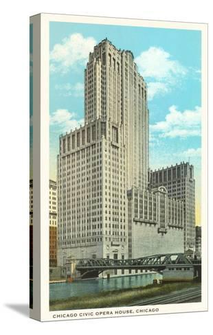 Civic Opera House, Chicago, Illinois--Stretched Canvas Print