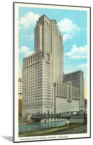 Civic Opera House, Chicago, Illinois--Mounted Art Print