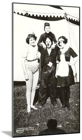 Circus Performers, Ringling Brothers, 1915--Mounted Art Print