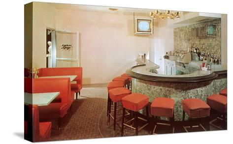 Cocktail Lounge--Stretched Canvas Print