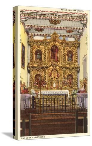Altar in Serra Chapel, San Juan Capistrano Mission, California--Stretched Canvas Print