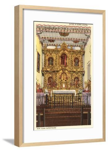 Altar in Serra Chapel, San Juan Capistrano Mission, California--Framed Art Print