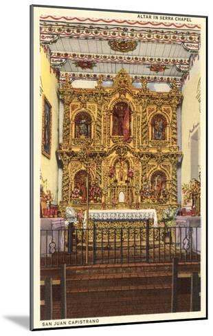 Altar in Serra Chapel, San Juan Capistrano Mission, California--Mounted Art Print