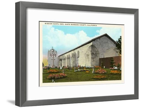 Santa Inez Mission, California--Framed Art Print